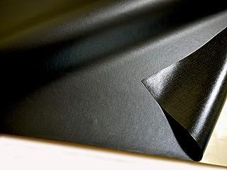 貼るレザー(シールタイプ) 薄手の合皮 黒 ツヤなし 95×43cm