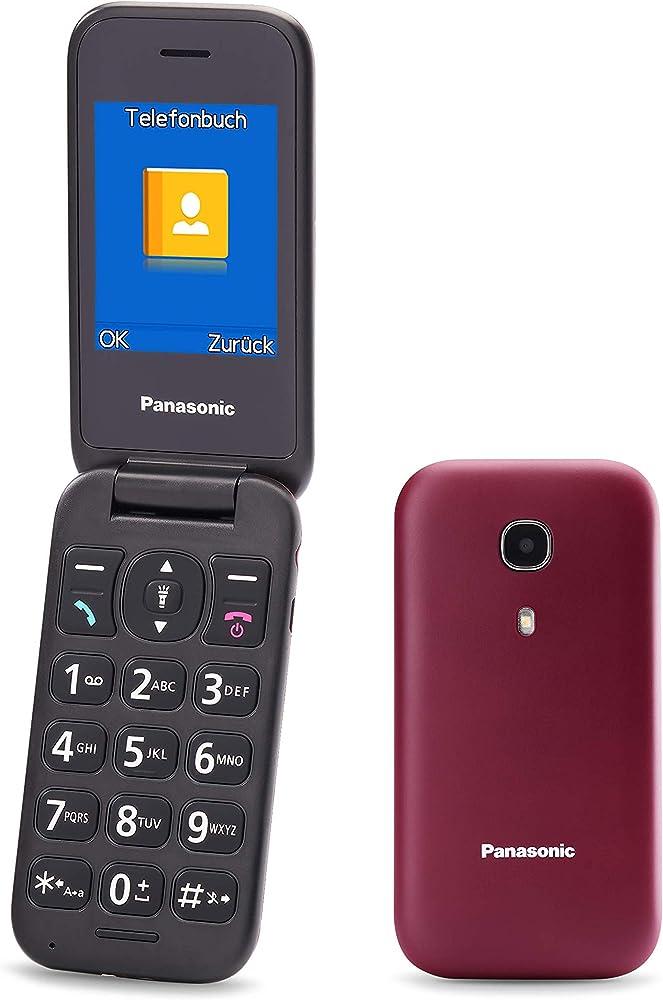 Panasonic,telefono cellulare facilitato, ampio display a colori,tasti grandi, chiamate prioritarie in vivavoce KX-TU400EXR