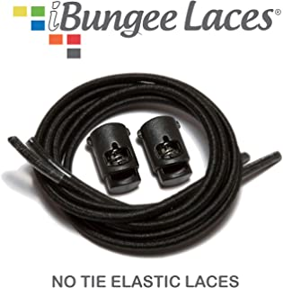 (Elastic No Tie Shoelaces) Stretch Laces With Lace Locks - Sized For Neat Fit, Easy Installation (Made in the USA)