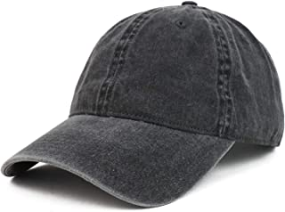 Armycrew XXL Oversize Big Washed Cotton Pigment Dyed Unstructured Baseball Cap