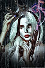 Queen Cruella by Daveed Benito Sexy Young Gothic Woman Painted Face Crown Handgun Cubicle Locker Mini Art Poster 8x12