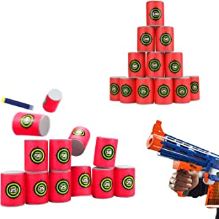 UWANTME EVA Soft Bullet Target for NERF N-Strike Blasters Pack of 12pcs