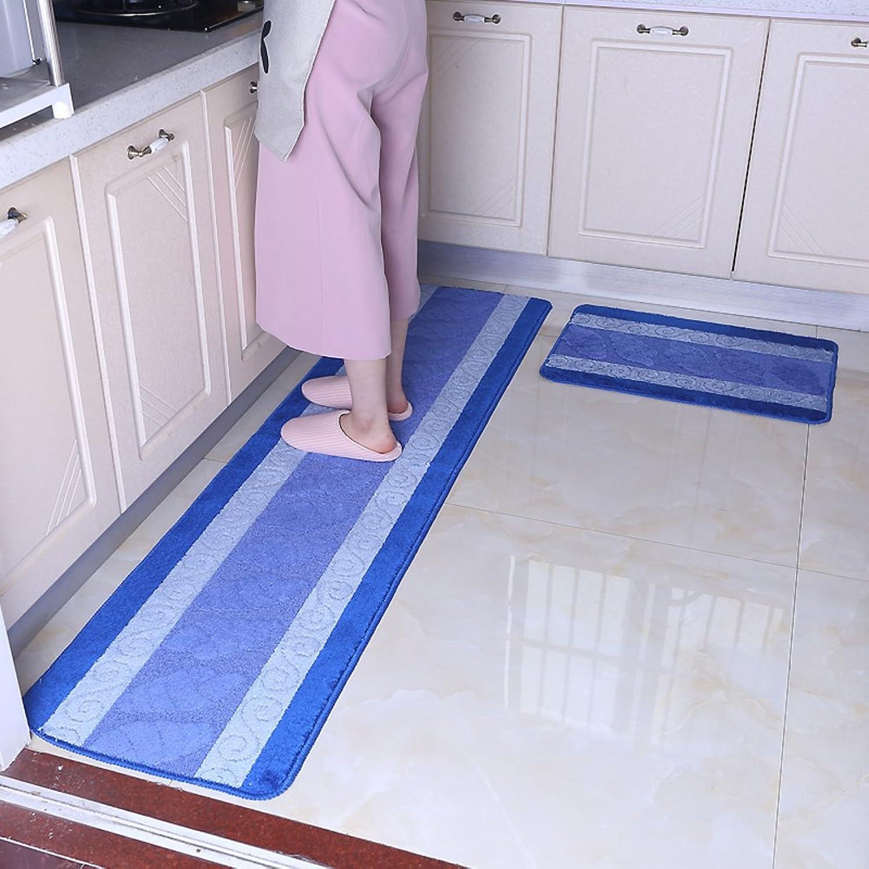 European long-strip lattice mat Kitchen floor mats Water skid strip foot pad Bathroom Living room Sliding pads Wall-to-wall carpet bedroom bedside-B 45x180cm(18x71inch)