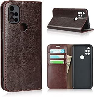 Case for OnePlus Nord N10 5G, Luxury Genuine Leather Wallet Case with Viewing Stand & Card Slots, Flip Case Cover for OneP...