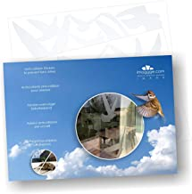 Anti-Collision Stickers to Prevent Bird Strikes on Window Glass - Set of 17 Silhouettes - Color: Translucent/Dusted - Window Clings Decals - Birds Prevention Deflectors Reflectors
