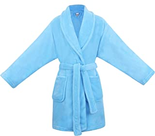 Image of Bright Sky Blue Bath Robe for Girls - See More Colors