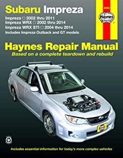 Subaru Impreza (02-11), Impreza Wrx (02-14) & Impreza Wrx Sti (04-14) (Includes Impreza Outback and GT Models) Technical Repair Manual (Haynes Repair Manual)