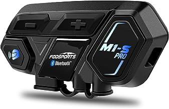 Motorcycle Bluetooth Intercom, Fodsports M1S Pro 2000m 8 Riders Group Motorbike Helmet Communication System Headset Universal Wireless Interphone (Waterproof/Handsfree/Stereo Music/GPS/2 Mic)