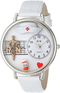 Whimsical Watches Unisex U0620008 RN White Leather Watch
