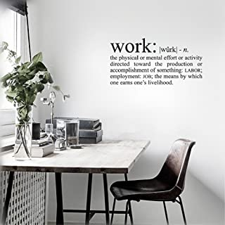 DIY Removable Vinyl Decal Mural Letter Wall Sticker Work Definition: n.The Physical or Mental Effort or Activity Directed