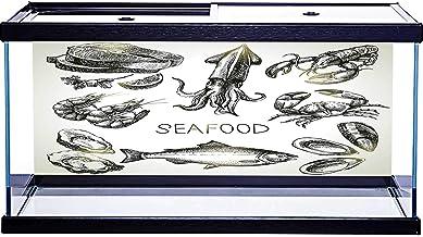 SoSung - Juego de dibujo de fondo de acuario con diseño de mariscos, varios patrones con adhesivo en la parte posterior, 1...