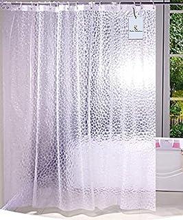 Kuber Industries PVC .20 MM Shower Curtain - 7ft, Transparent