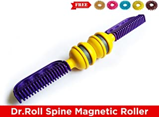 Dr Roll Spine Acupressure Magnetic Therapy Back Pain Relief Massager Roller + Free 5 Sujok Rings
