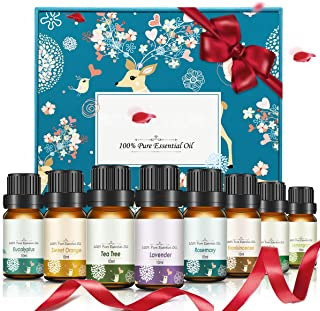 Janolia 8 Pcs Essential Oils, Top 8 Essential Oils for Diffuser and Humidifier, Soothing and Natural Fragrance Ingredients