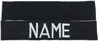 Black Name Tape with Fastener, Custom Tape Police , Customized