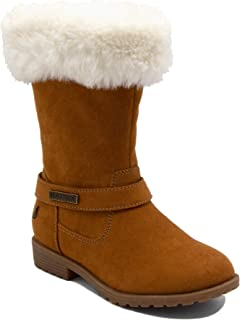 Girls Warm Boots-Cold Weather Fashion Booties with Sherpa Fur Upper-Cosima (Little Kid/Big Kid)