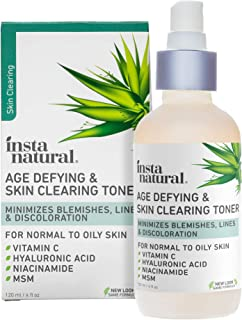Vitamin C Skin Clearing Acne Toner - Natural & Organic Anti Aging Facial Spray with Salicylic Acid & Hyaluronic Acid - Hel...