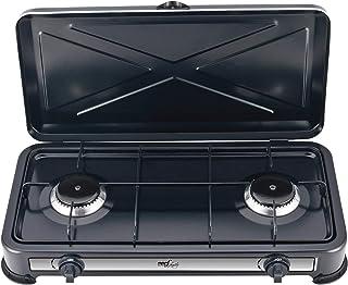 Melchioni Family 118360110 Réchaud à gaz 2 feux minérva 2, métal
