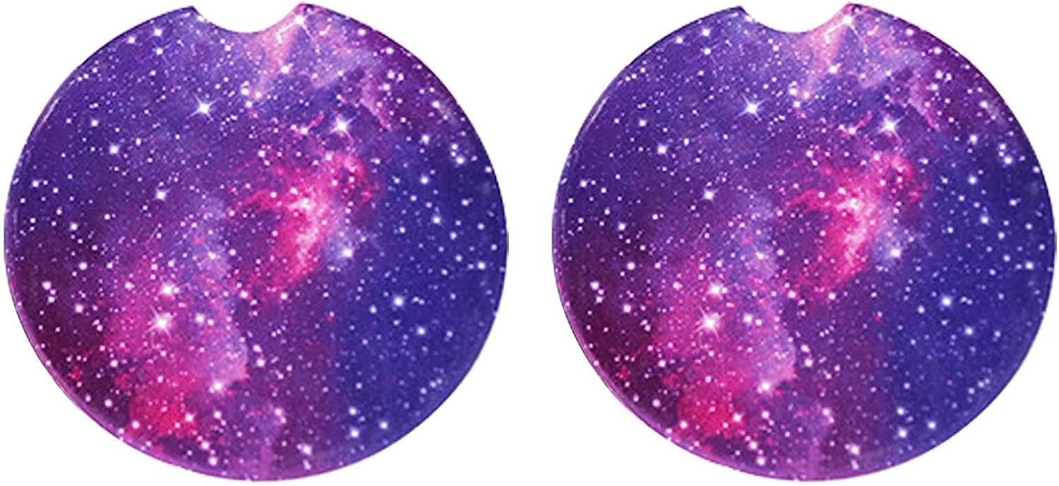 Removable Cup Holder Coaster for Your Car (2 PCS) Purple Snow keychain Car Coasters Absorbent Ceramic for Cup Holder,2.56 Inches Car Coasters for Drinks Absorbent