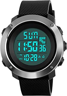 f63a7f0be664 Mens Teenagers Boys Digital Sports Watch Men Big Face 50M Waterproof  Countdown Military Electronic Digital Watches