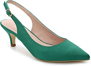 5a14a10f68b ComeShun Womens Shoes Slingback Kitten Heels Dress Pointed Toe Pumps