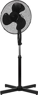 Ventilador de pie NHC de 40 cm o 41 cm rotor – Ventilador regulable hasta 122 cm – Muy silencioso – Alto flujo de aire – 3 velocidades diferentes – Función de oscilación aprox. 90° - negro