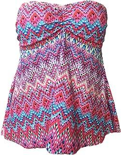 JadeRich Women's Fashion Stripes Pattern Two Pieces Tankini Swimwear S-XXXL