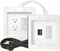 MIDLITE Power Jumper HDTV Power Relocation Kit (Includes Pre-Wired Cable), White (22APJW-7R)