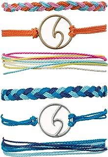 Wave Beach Strand Bracelet for Women Teen Girl Boho Handmade Waterproof Adjustable Braided Rope Bracelet Set