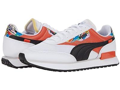 PUMA Future Rider INTL Game (Puma White/Tigerlily) Shoes
