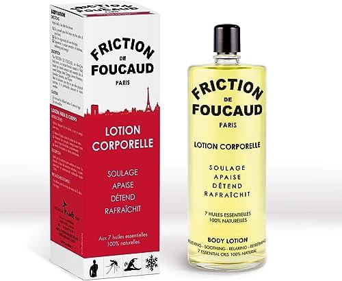 Friction de Foucaud - Flacon Verre 500Ml - Marque Française depuis 1946 - Concentré D'Huiles Éssentielles - Tonus, Fr...