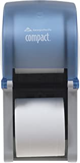 "Compact 2-Roll Vertical Coreless High-Capacity Toilet Paper Dispenser by GP PRO (Georgia-Pacific), Splash Blue, 56789, 6.000"" W x 6.500"" D x 13.500"" H"