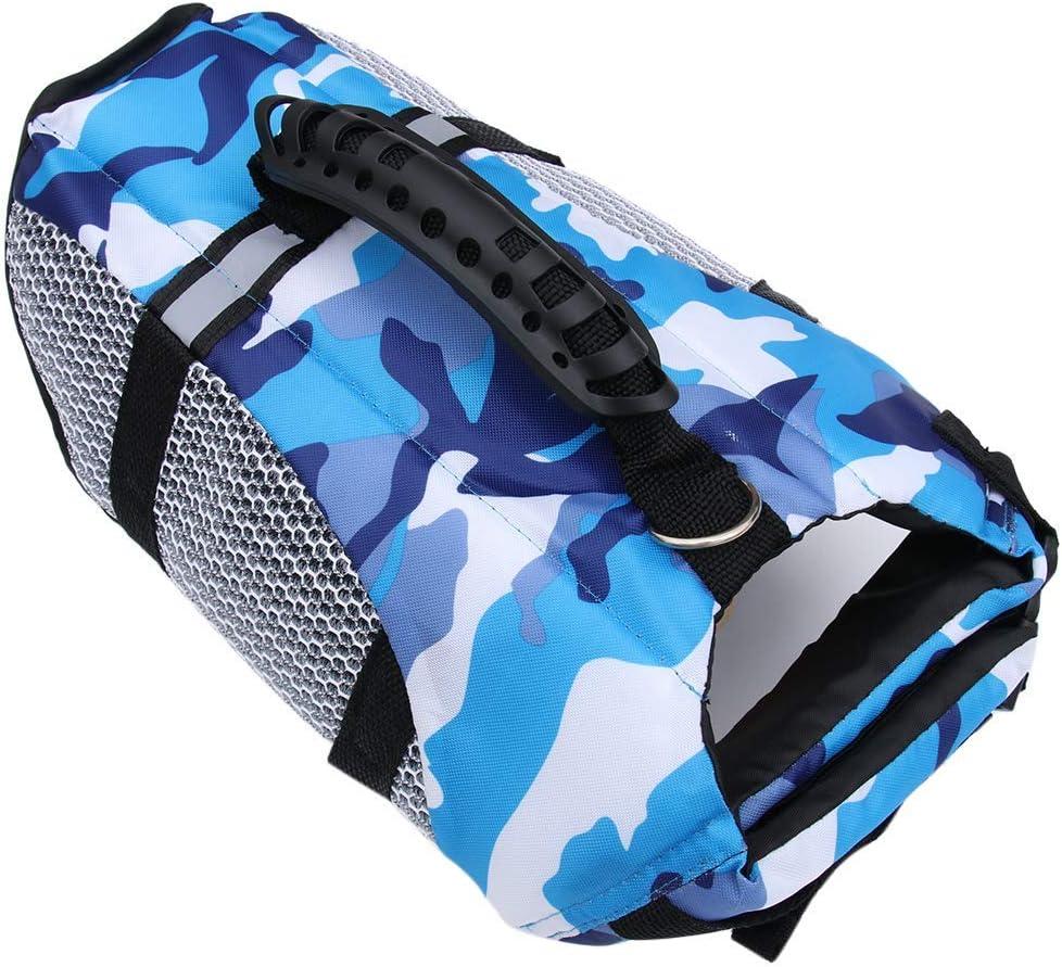 XiYou Dog Life Jacket Doggy Device Adjustable Ripstop Tampa Max 69% OFF Mall Flotation