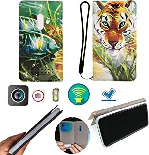 FY Flip Case For Tecno Spark 4 Lite Cover Flip PU Leather + Silicone Ring case Fixed SZLH