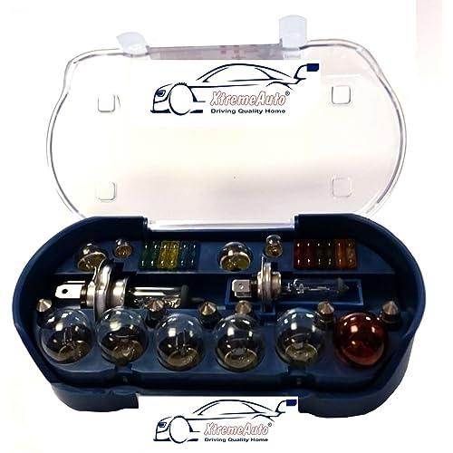 Bombillas XtremeAuto® Juego de 30 repuestos universales, incluye bombillas y fusibles H1H4