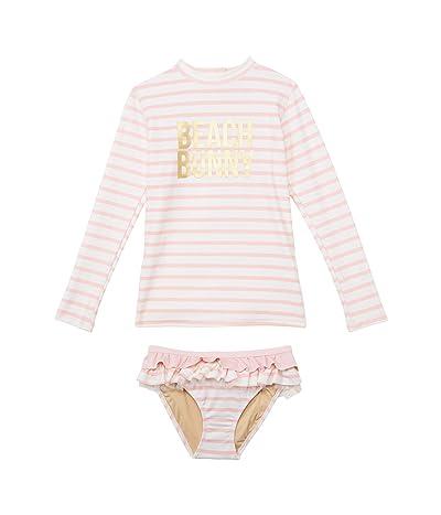 shade critters Rashguard Set Beach Bunny Stripe (Infant/Toddler) Girl