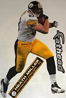 9db42ad9fc3 FATHEAD Heath Miller Pittsburgh Steelers Official NFL Vinyl Wall Graphic  11