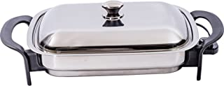 Precise Heat KTES4 Stainless Steel 16-Inch Rectangular Surgical Electric Skillet