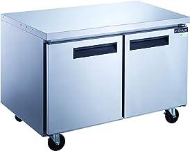 Dukers DUC48F 12.2 cu. ft. 2-Door Undercounter Freezer in Stainless Steel