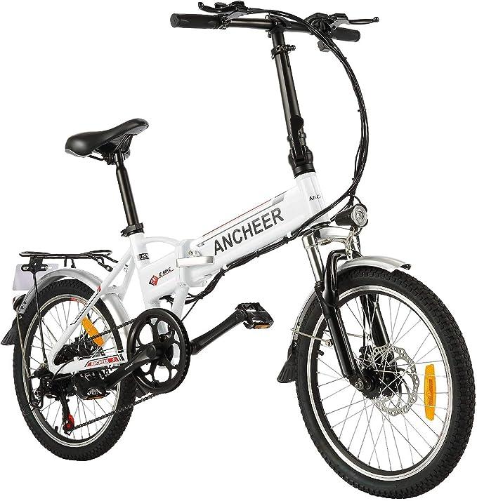 ANCHEER - Bicicleta Eléctrica Plegable