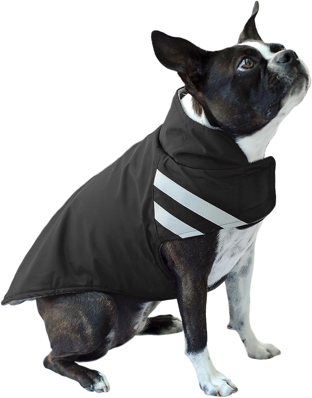Scooter's Friends Winter Parka Dog Coat, Size 16, Black
