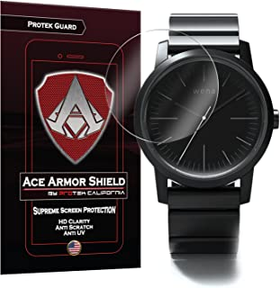 Ace Armor Shield ProTek Guard (6 PACK) Screen Protector for the Sony Wena Rounded Smartwatch with free lifetime Replacement warranty