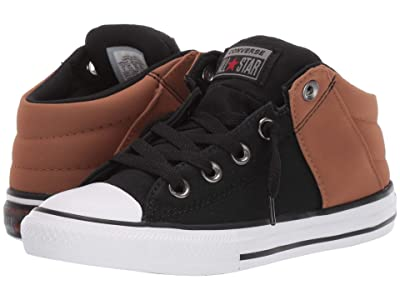 Converse Kids Chuck Taylor(r) All Star(r) Axel Mid (Little Kid/Big Kid) (Black/Warm Tan/White) Boys Shoes