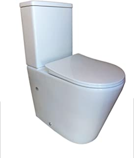 comprar comparacion Pack WC de Inodoro compacto adosado a la pared con salida dual y sistema rimless Roma