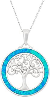 Sterling Silver and Gold Tone Created Blue Opal, MOP or Abalone 18