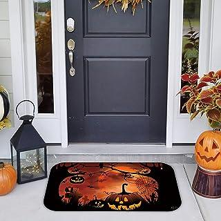Keliela-Home Shop Halloween Doormat Blanket Welcome Home Numpkin Bright Color Front Door Non Slip Entryway Indoor Outdoors...