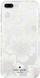Incipio Apple iPhone 6 Plus/6S Plus/7 Plus/8 Plus Kate Spade Hard-Shell Case - Hollyhock Floral Clear/Cream with Stones