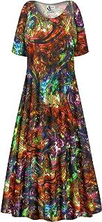 536434a4949eb Paisley Slinky Plus Size Short Sleeve A-Line Maxi Dress