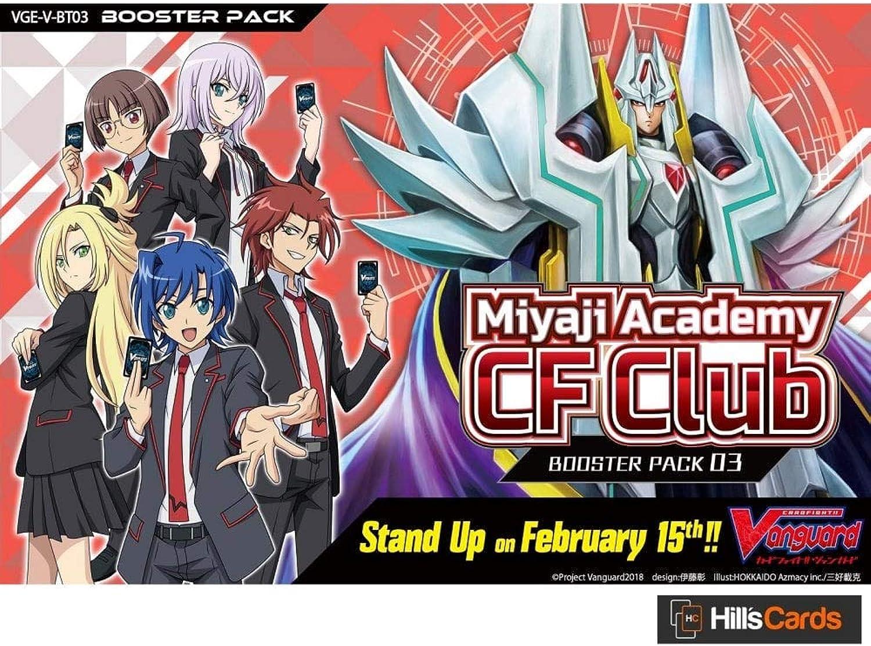Cardfight Vanguard Miyaji Academy CF CF CF Club V Booster Box 302d17