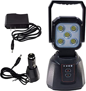 PA Newest Power Indicator 20W Work Light Truck 12/24V LED 2000 Lumens White Flood Magnetic Base with A/C & D/C Chargers 4 Function